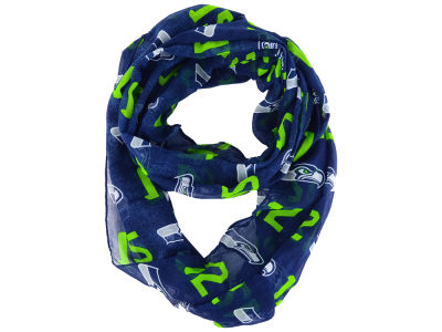 Seattle Seahawks All Over Logo Infinity Wrap Scarf