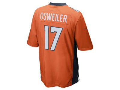 Denver Broncos Brock Osweiler Nike NFL Men's Game Jersey