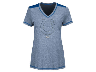 Indianapolis Colts Majestic NFL Women's Bright Lights Mocktwist T-Shirt