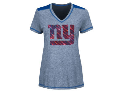 New York Giants Majestic NFL Women's Bright Lights Mocktwist T-Shirt