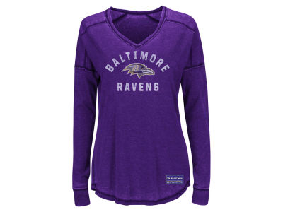 Baltimore Ravens Majestic NFL Women's Victory Play Long Sleeve T-Shirt