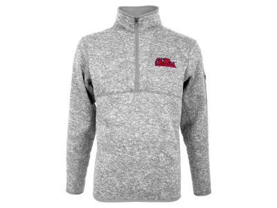 Ole Miss Rebels Antigua NCAA Men's Fortune Quarter Zip Pullover