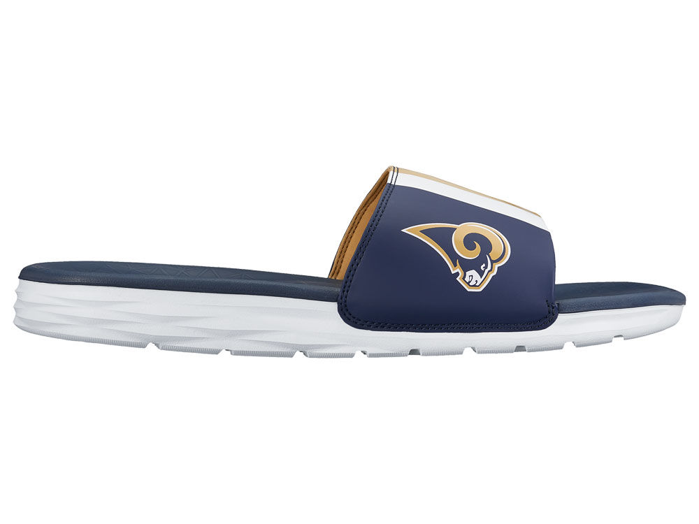 3cfc1e4fd8260 Los Angeles Rams Nike Men s Benassi Solarsoft Slide Sandals