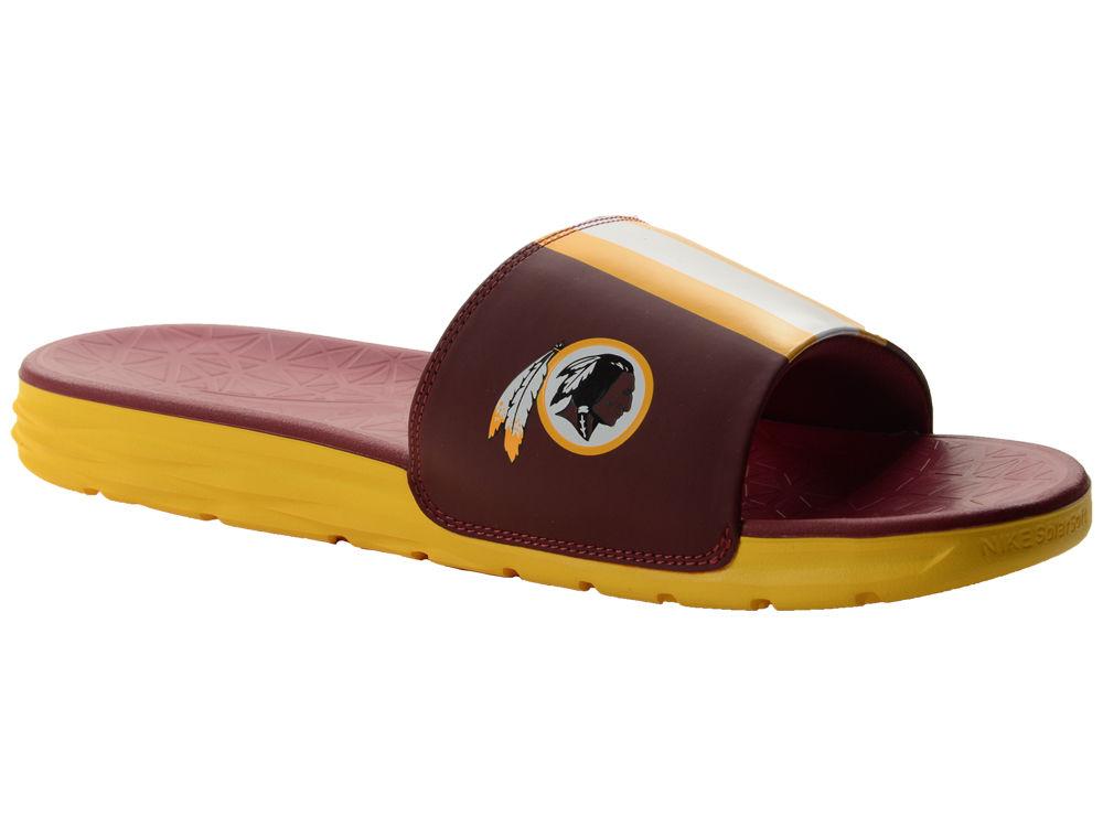 buy online c6d52 c275c ... clearance washington redskins nike mens benassi solarsoft slide sandals  b0cda 03287