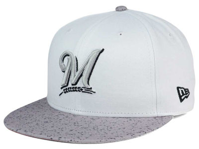 Milwaukee Brewers New Era MLB Cement Hook 9FIFTY Snapback Cap
