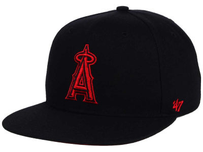 Los Angeles Angels '47 MLB '47 Black Red Shot Snapback Cap