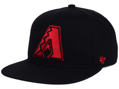Arizona Diamondbacks '47 MLB '47 Black Red Shot Snapback Cap