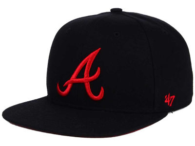 Atlanta Braves '47 MLB '47 Black Red Shot Snapback Cap
