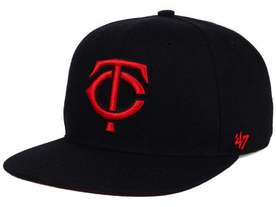 Minnesota Twins '47 MLB '47 Black Red Shot Snapback Cap