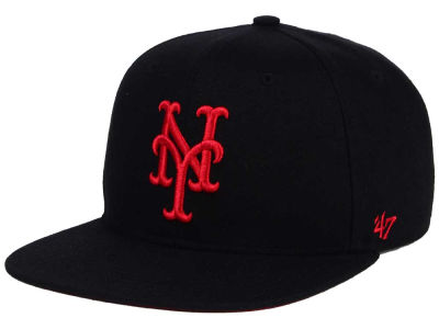 New York Mets '47 MLB '47 Black Red Shot Snapback Cap