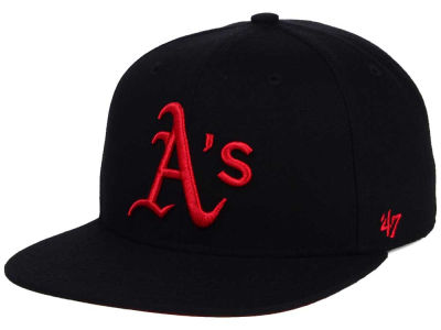 Oakland Athletics '47 MLB '47 Black Red Shot Snapback Cap