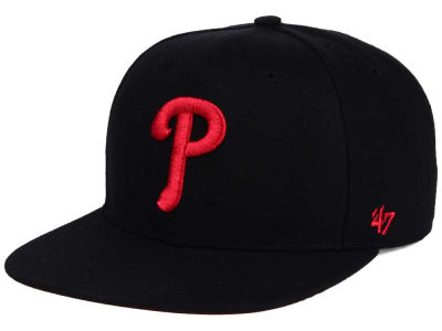 Philadelphia Phillies '47 MLB '47 Black Red Shot Snapback Cap