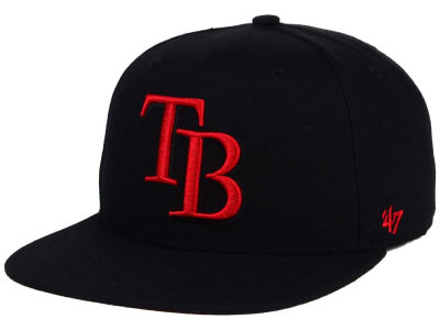 Tampa Bay Rays '47 MLB '47 Black Red Shot Snapback Cap
