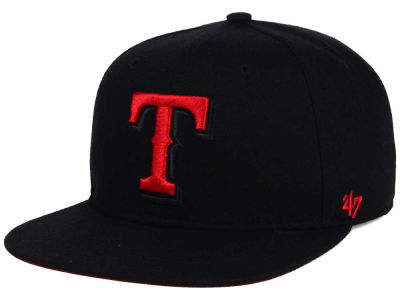 Texas Rangers '47 MLB '47 Black Red Shot Snapback Cap
