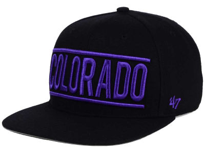 Colorado Rockies '47 MLB TC On Track Snapback Cap