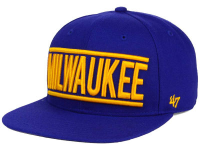 Milwaukee Brewers '47 MLB TC On Track Snapback Cap