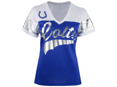 Indianapolis Colts GIII NFL Women's Pass Rush Mesh T-Shirt