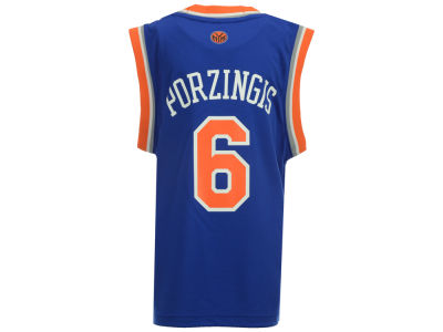 New York Knicks Kristaps Porzingis Youth NBA Revolution 30 Jersey
