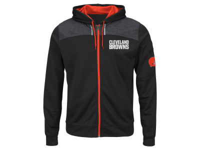 Cleveland Browns NFL Men's Game Elite Full Zip Hoodie