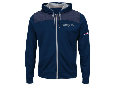 New England Patriots NFL Men's Game Elite Full Zip Hoodie
