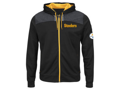 Pittsburgh Steelers NFL Men's Game Elite Full Zip Hoodie