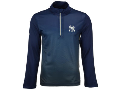 New York Yankees Majestic MLB Men's Good And Approved 1/2 Zip Pullover