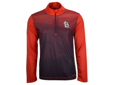 St. Louis Cardinals Majestic MLB Men's Good And Approved 1/2 Zip Pullover