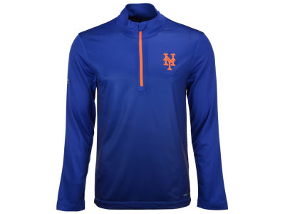 New York Mets Majestic MLB Men's Good And Approved 1/2 Zip Pullover