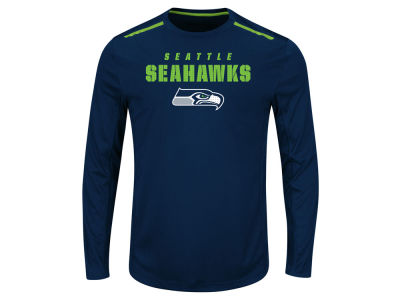 Seattle Seahawks NFL Men's Fanfare IX Long Sleeve Synthetic Long Sleeve T-Shirt