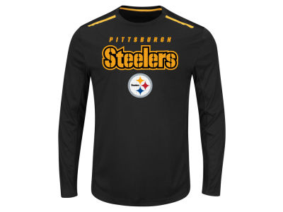 Pittsburgh Steelers NFL Men's Fanfare IX Long Sleeve Synthetic Long Sleeve T-Shirt