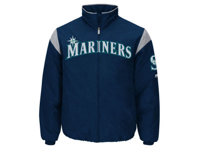 Seattle Mariners Majestic MLB Men's On-Field Thermal Jacket
