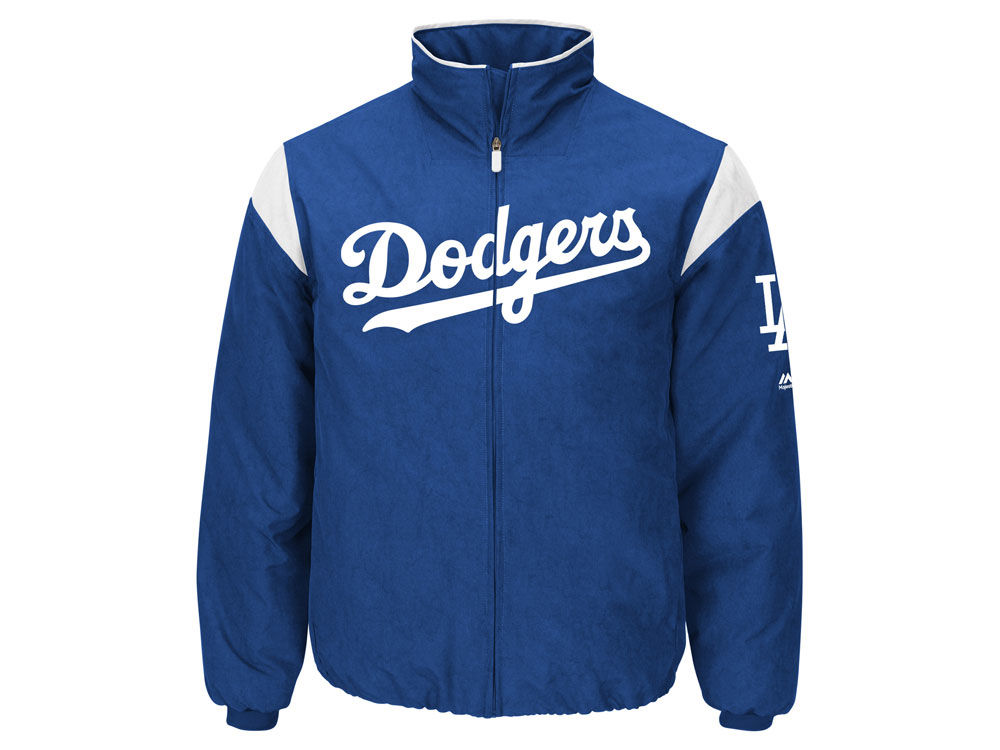 Los Angeles Dodgers Majestic MLB Men s On-Field Thermal Jacket ... 87cf121efca