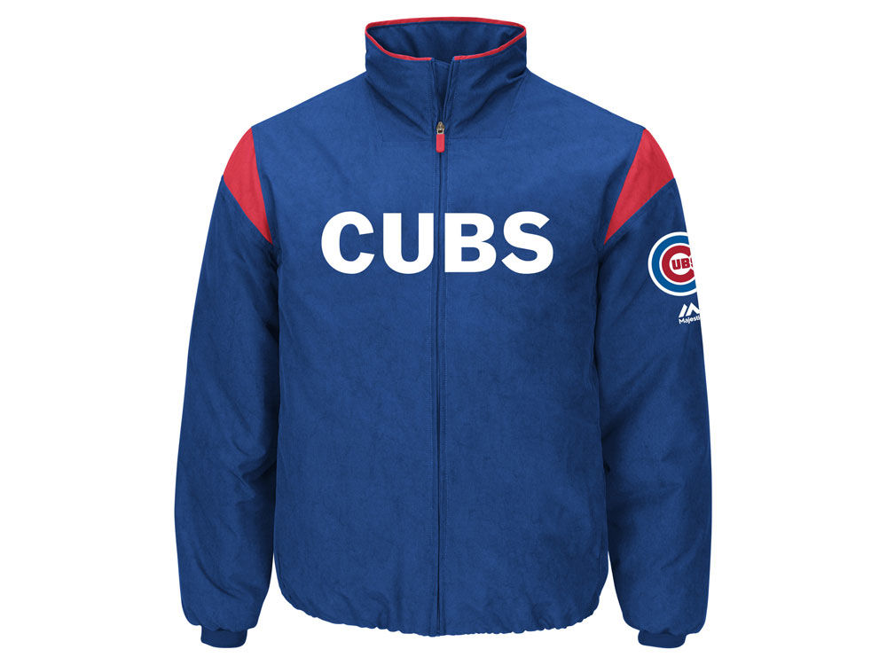 43cd00a09 Chicago Cubs Majestic MLB Men s On-Field Thermal Jacket