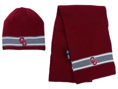 Oklahoma Sooners Top of the World NCAA Stripe Knit and Scarf Set
