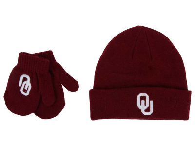 Oklahoma Sooners Top of the World NCAA Toddler Simple Knit and Mitten Set