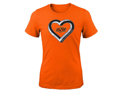 Oklahoma State Cowboys Outerstuff NCAA Youth Girls Infinite Heart T-Shirt