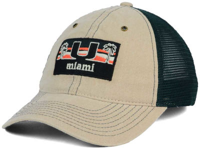 Miami Hurricanes Zephyr NCAA Landmark Mesh Hat