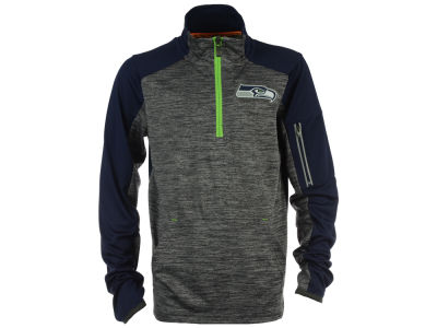 Seattle Seahawks Outerstuff NFL Youth Paramount Quarter Zip Pullover