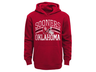 Oklahoma Sooners NCAA Kids Helmet Stripes Fleece Hoodie