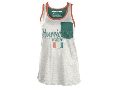 Miami Hurricanes NCAA Women's Campbell Pocket Slub Tank