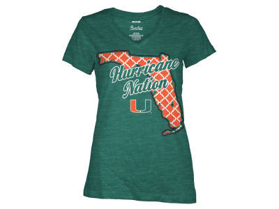 Miami Hurricanes NCAA Women's State T-Shirt