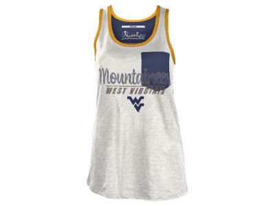 West Virginia Mountaineers NCAA Women's Campbell Pocket Slub Tank