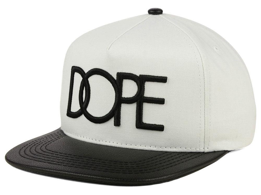 Dope Leather Brim Snapback Hat  b9920993c19