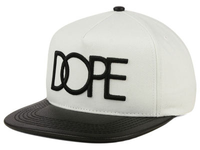 Dope Leather Brim Snapback Hat