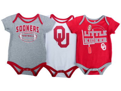 Oklahoma Sooners NCAA Infant 3 Points 3-Piece Creeper Set
