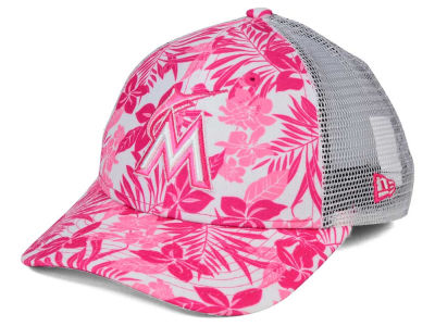 Miami Marlins New Era MLB Youth Flower Power 9FORTY Cap
