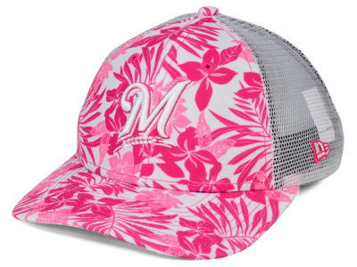 Milwaukee Brewers New Era MLB Youth Flower Power 9FORTY Cap