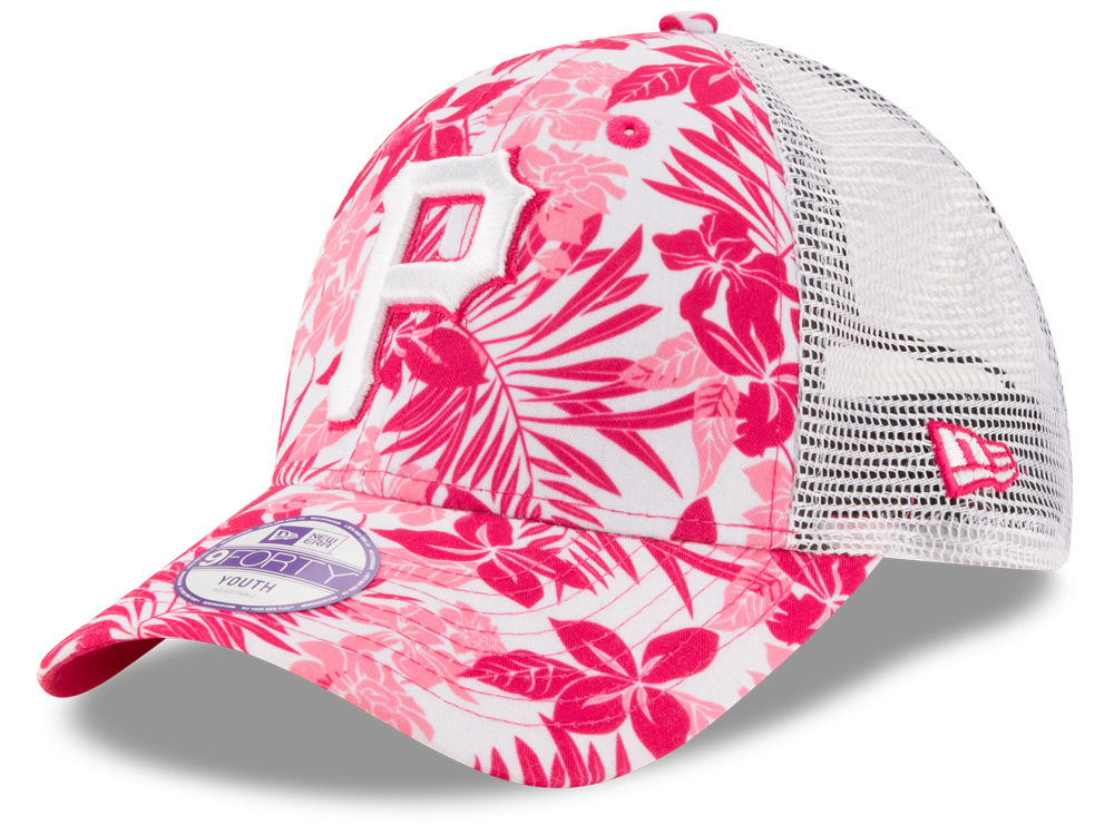 wholesale dealer 72bc4 7e592 ... best pittsburgh pirates new era mlb youth flower power 9forty cap e48c0  8a165