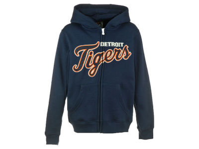 Detroit Tigers MLB CN Youth Wordmark Full Zip Hoodie