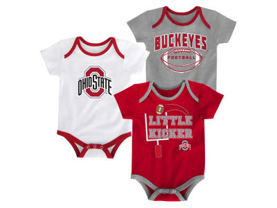 Ohio State Buckeyes Outerstuff NCAA Newborn 3 Points 3-Piece Creeper Set